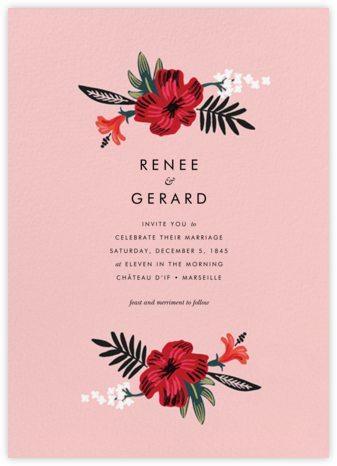 Kona Floral (Invitation) - Pavlova - Rifle Paper Co. - Wedding Invitations