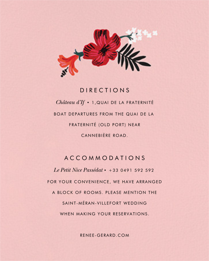 Kona Floral (Invitation) - Pavlova - Rifle Paper Co. - All - insert front