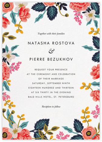 Birch Monarch Suite (Invitation) - White - Rifle Paper Co. - Wedding invitations