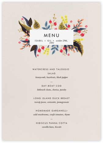 Egret Garden (Menu) - Rifle Paper Co. - Wedding menus and programs - available in paper