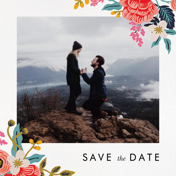 Birch Monarch Suite (Photo Save the Date) - Rifle Paper Co. - Rifle Paper Co. Wedding