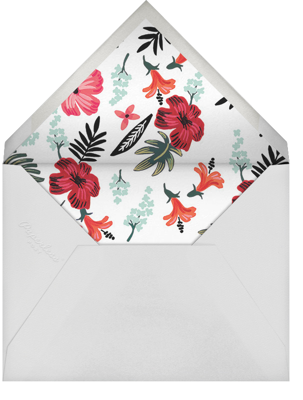 Kona Floral (Save the Date) - Celadon - Rifle Paper Co. - Save the date - envelope back
