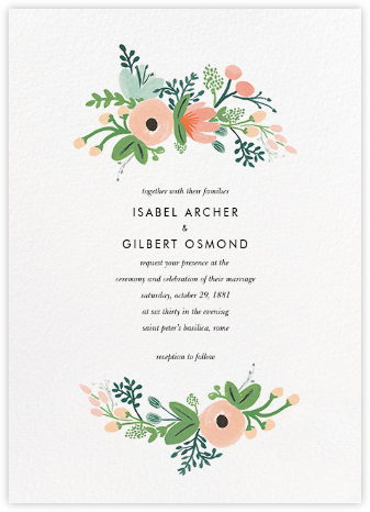 wrapped in wildflowers suite - Wedding Invitations Online