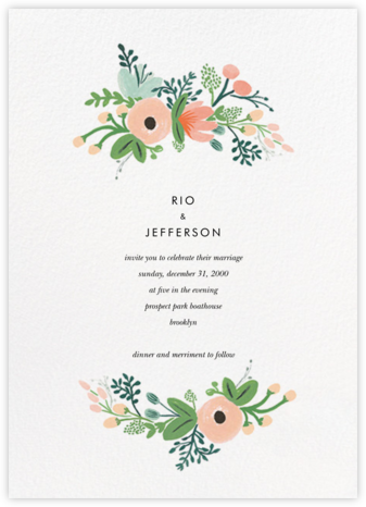 Wrapped in Wildflowers Suite (Invitation) - Rifle Paper Co. -
