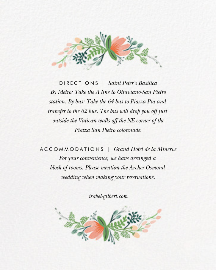 Wrapped in Wildflowers Suite (Invitation) - Rifle Paper Co. - All - insert front