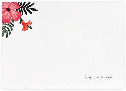 Kona Floral (Stationery) - Rifle Paper Co. - Personalized Stationery