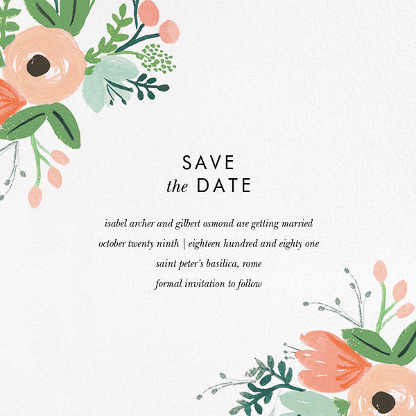 Wrapped in Wildflowers Suite (Save the Date) - Rifle Paper Co. - Rifle Paper Co. Wedding