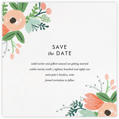 Wrapped in Wildflowers Suite (Save the Date) - Rifle Paper Co. - Save the date cards and templates