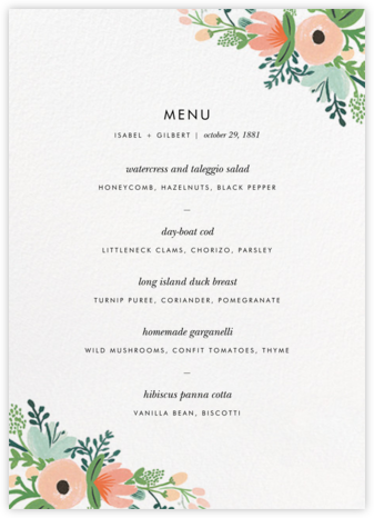Wrapped in Wildflowers Suite (Menu) | tall