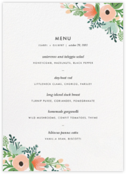 Wrapped in Wildflowers Suite (Menu)