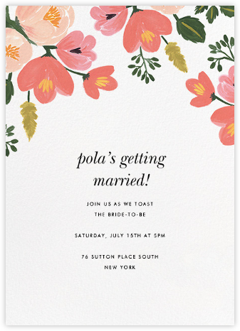 Pastel Petals - Rifle Paper Co. - Bridal shower invitations