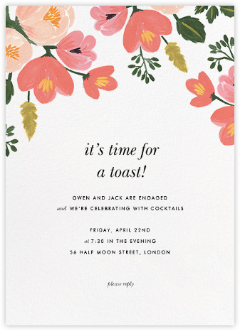 Pastel Petals - Rifle Paper Co. - Engagement party invitations