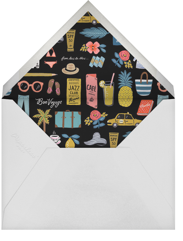Travel Essentials - Rifle Paper Co. - Bachelorette party - envelope back