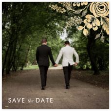 Heather and Lace (Photo Save the Date) - Gold