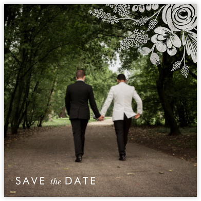 Heather and Lace (Photo Save the Date) - Silver | null