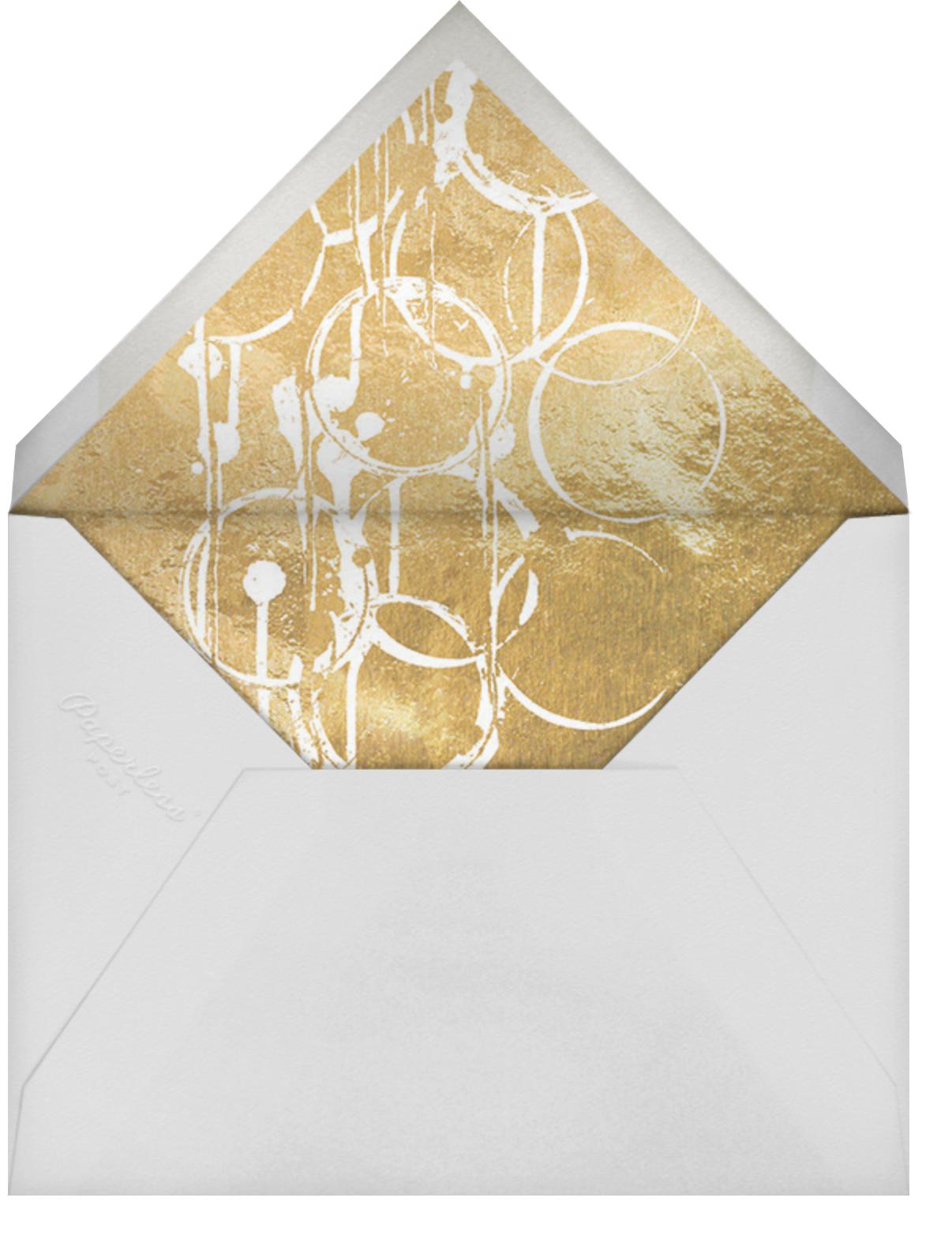 Bottle Shock - Gold - Kelly Wearstler - Bachelorette party - envelope back