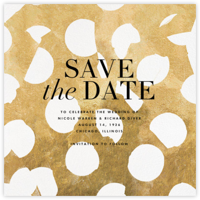 Ingenue - Gilded - Kelly Wearstler - Save the dates