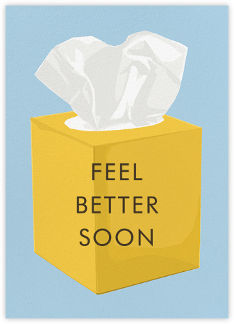 Tissue Box Blues - Hannah Berman - Get well cards