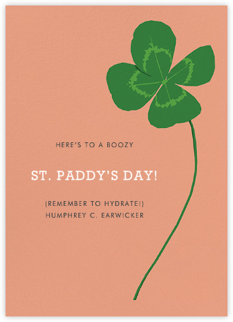 Four-Leaf Clover (Greeting) - Hannah Berman - St. Patrick's Day cards
