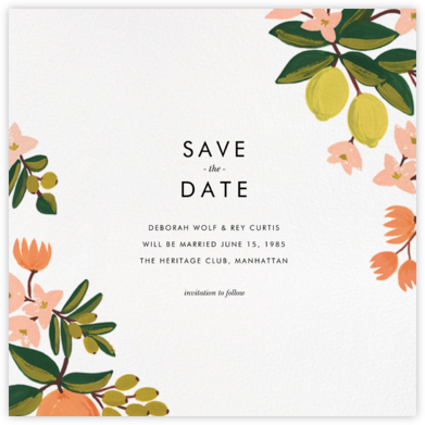 Citrus Orchard Suite (Save the Date) - White - Rifle Paper Co. - Save the dates