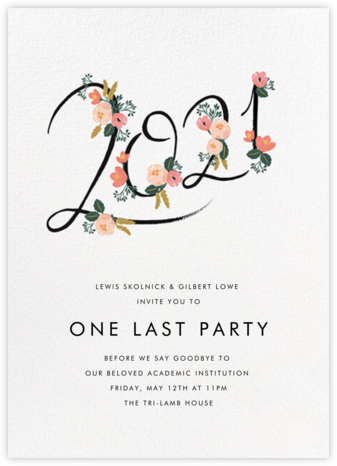Botanic Year (Tall) - White - Rifle Paper Co. - Rifle Paper Co. Invitations