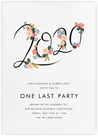 Botanic Year (Tall) - White - Rifle Paper Co. - Celebration invitations