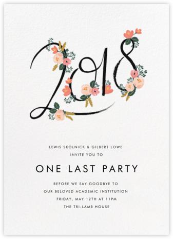 Graduation invitations online at paperless post botanic year tall white stopboris Choice Image