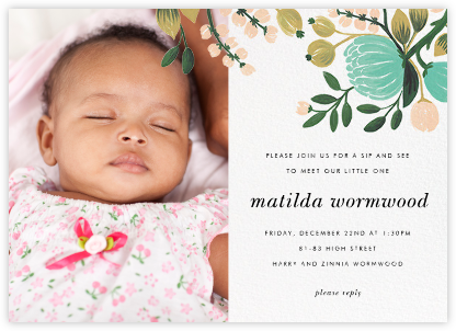 Blue Blooms (Photo)  - Rifle Paper Co. - Baby shower invitations