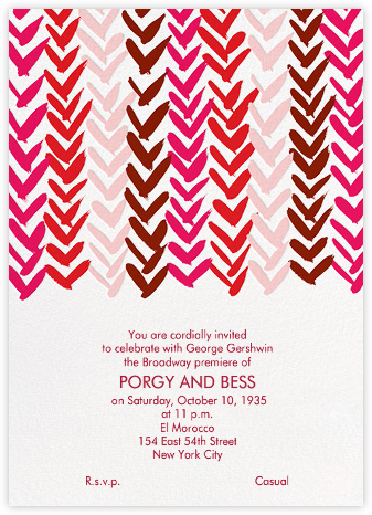 Ink Brush Arrows - Pink And Red - Linda and Harriett - Bridal shower invitations