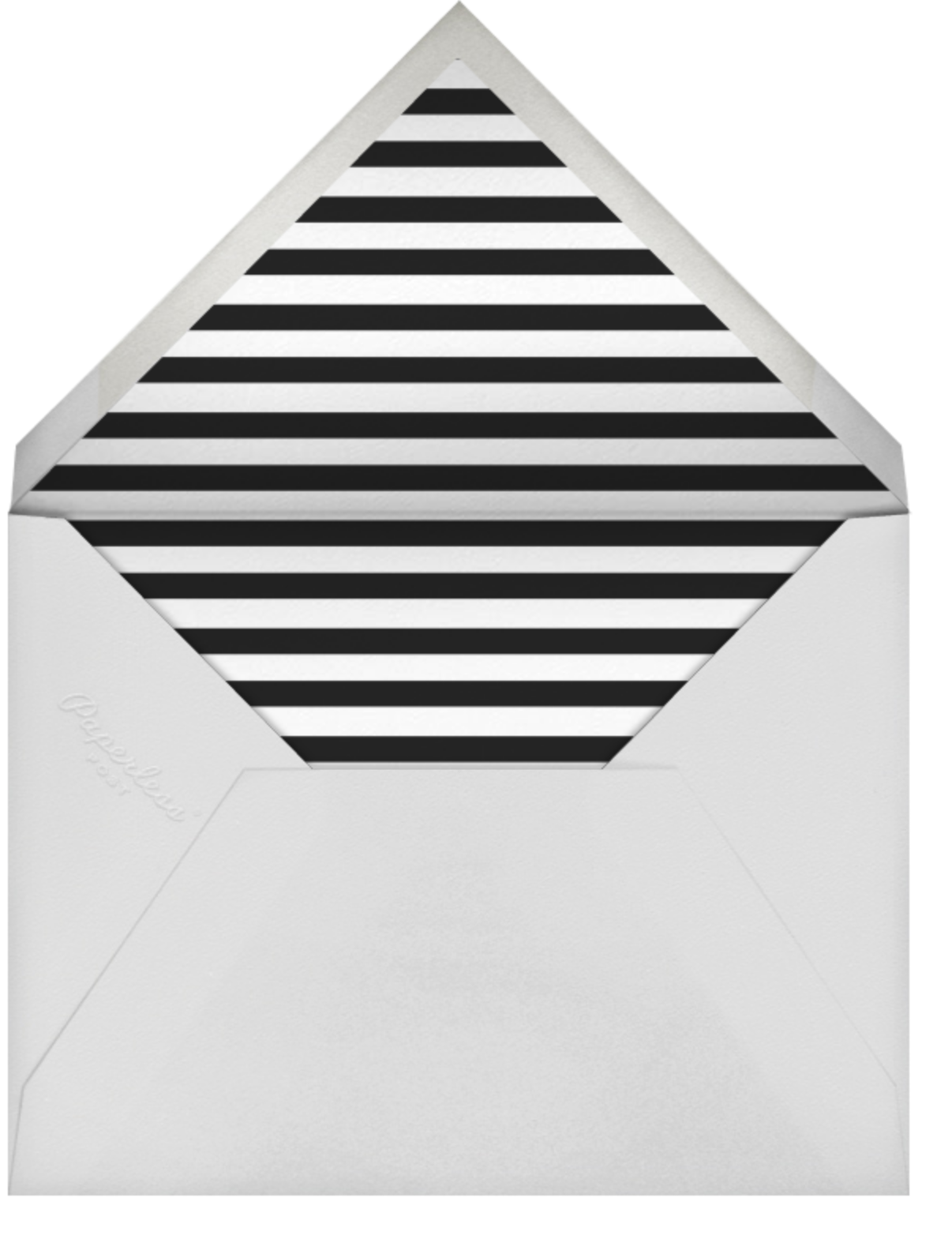 Confetti - White/Silver - kate spade new york - Engagement party - envelope back