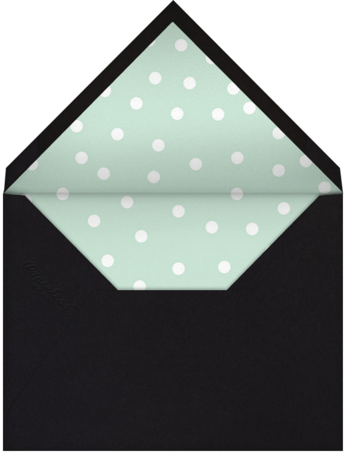 Join Us (Dots) - Mint/Gold - Linda and Harriett - General entertaining - envelope back