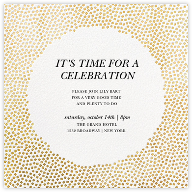 konfetti gold - Engagement Party Invite