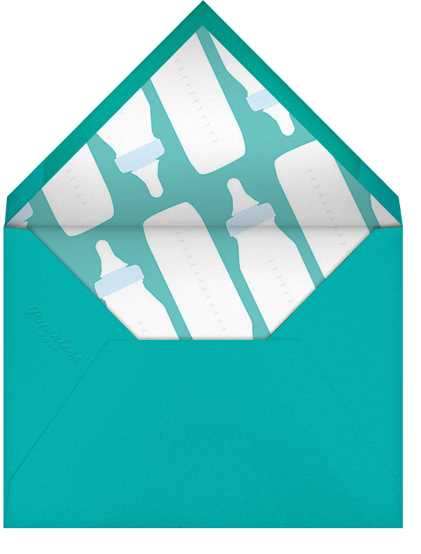 First Sip - Blue - Paperless Post - Baby shower - envelope back