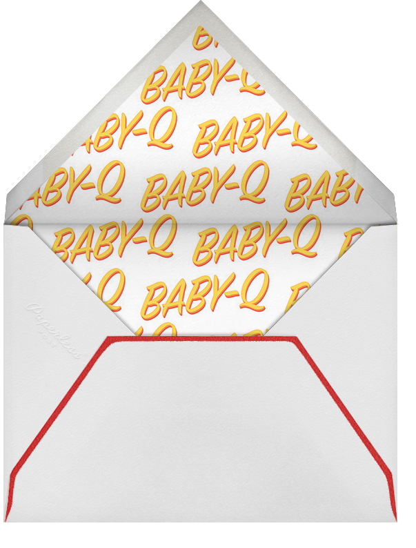 BabeBQ - Red - Paperless Post - Baby shower - envelope back