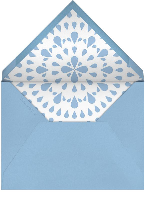 Forecast Sprinkles - Mint - Paperless Post - Baby shower - envelope back
