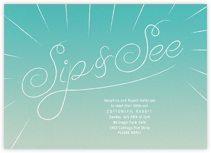 Script Sip - Lagoon - Paperless Post - Baby Shower Invitations