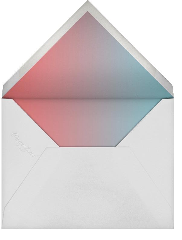 Script Sip (Photo) - Coral - Paperless Post - Baby shower - envelope back