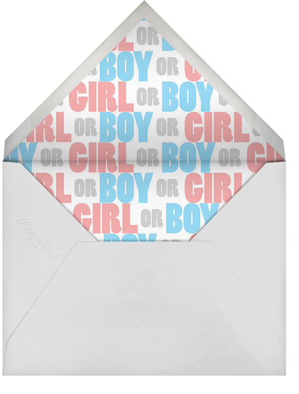 The Big Reveal - Paperless Post - Baby shower - envelope back