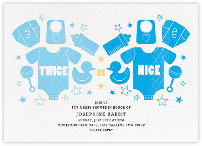 Twice as Nice - Blues - Paperless Post - Baby Shower Invitations