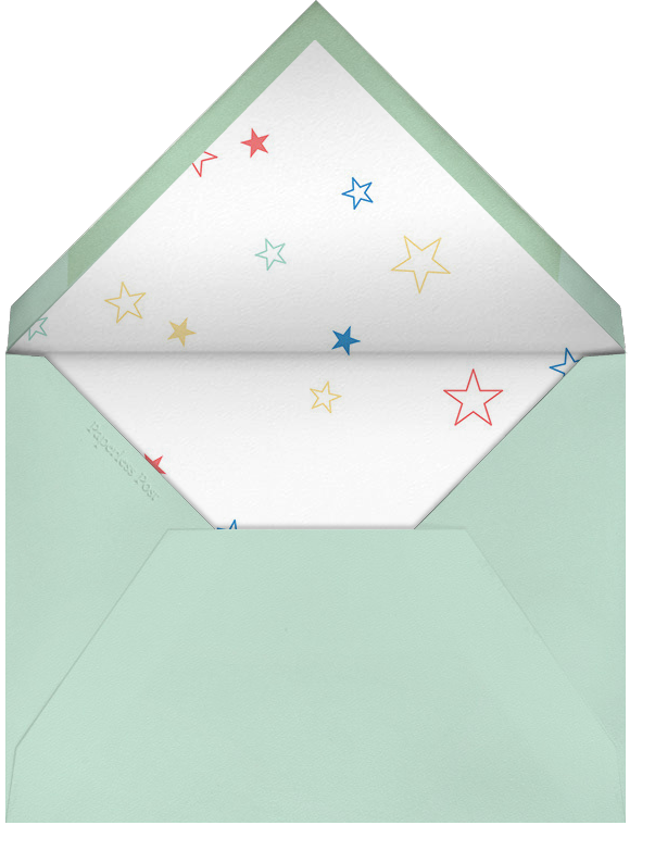 Twice as Nice - Mint/Yellow - Paperless Post - Baby shower - envelope back