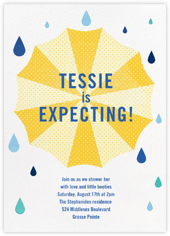 Under My Umbrella - Yellow - Paperless Post - Baby Shower Invitations