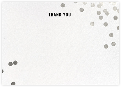 Confetti (Stationery) - White/Silver - kate spade new york - Wedding thank you notes