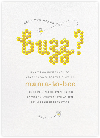 What's the Buzz - Paperless Post - Baby Shower Invitations