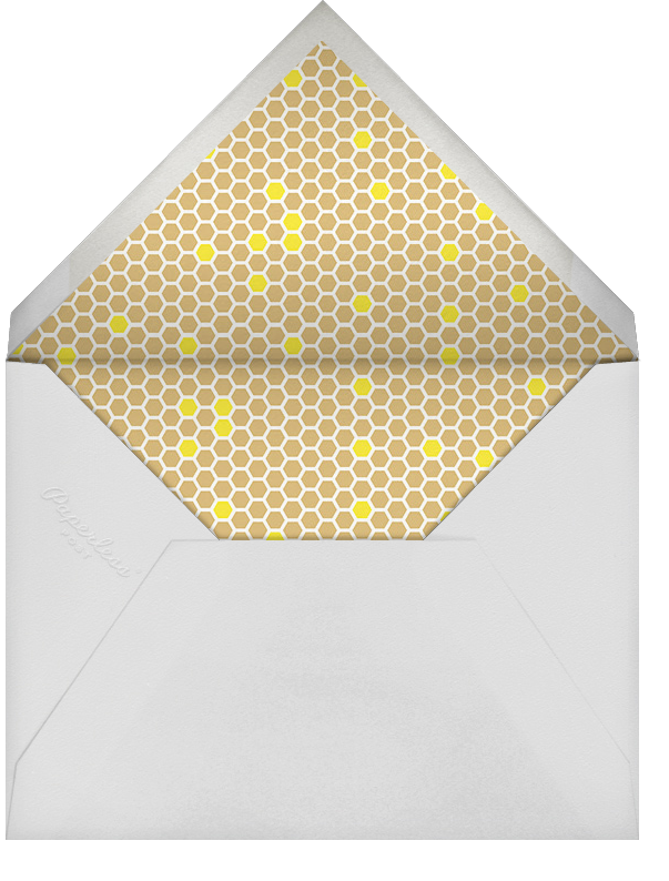 What's the Buzz - Paperless Post - Baby shower - envelope back