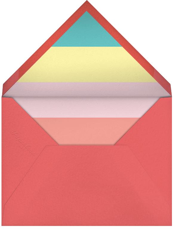 Raindrop Rainbow - Paperless Post - Baby shower - envelope back