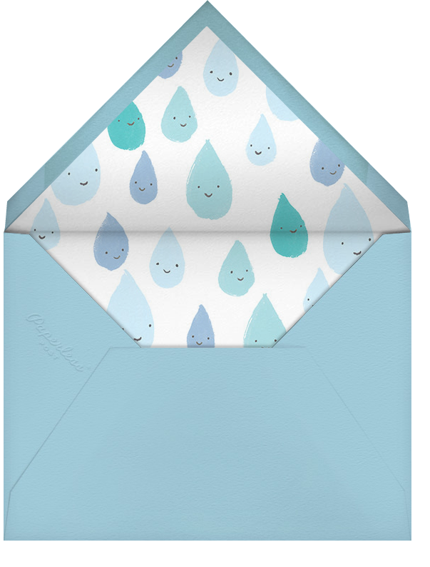 Grinning in the Rain - Blue - Paperless Post - Baby shower - envelope back