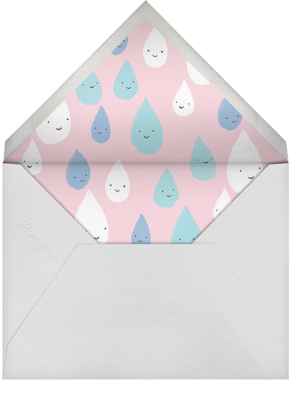 Grinning in the Rain - Pink - Paperless Post - Baby shower - envelope back