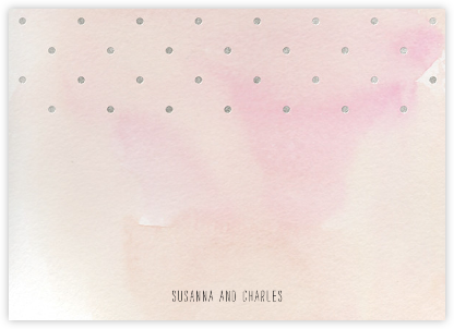 Watercolor (Stationery) - Pink/Silver - Paper + Cup - Paper + Cup Stationery