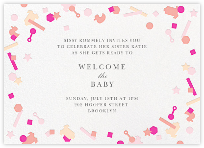 Kidfetti - Pink - Paperless Post - Baby shower invitations
