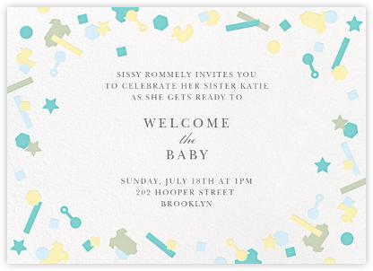 Kidfetti - Green - Paperless Post - Baby Shower Invitations